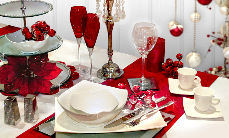 table setting ideas for christmas dinner | My Web Value